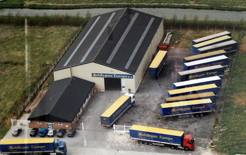 middlegate warehouse and trucks