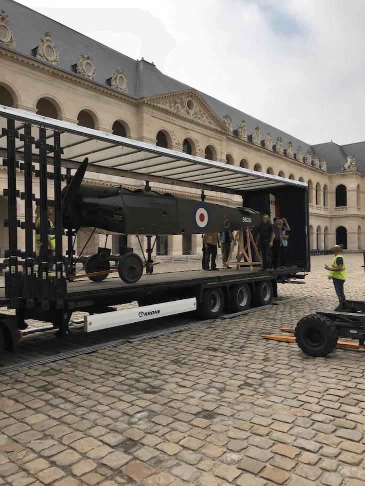 plane in truck